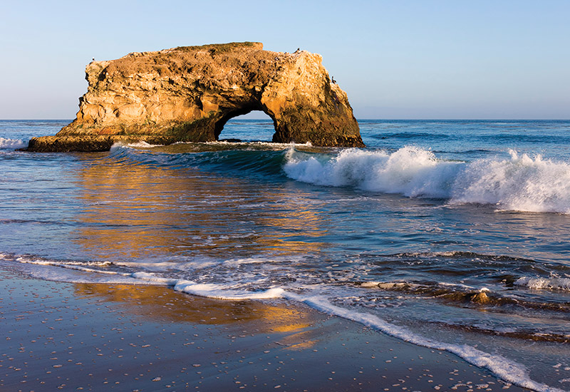 The beautiful close-by Natural Bridges State Beach